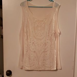 Maurices size 3 cream blouse